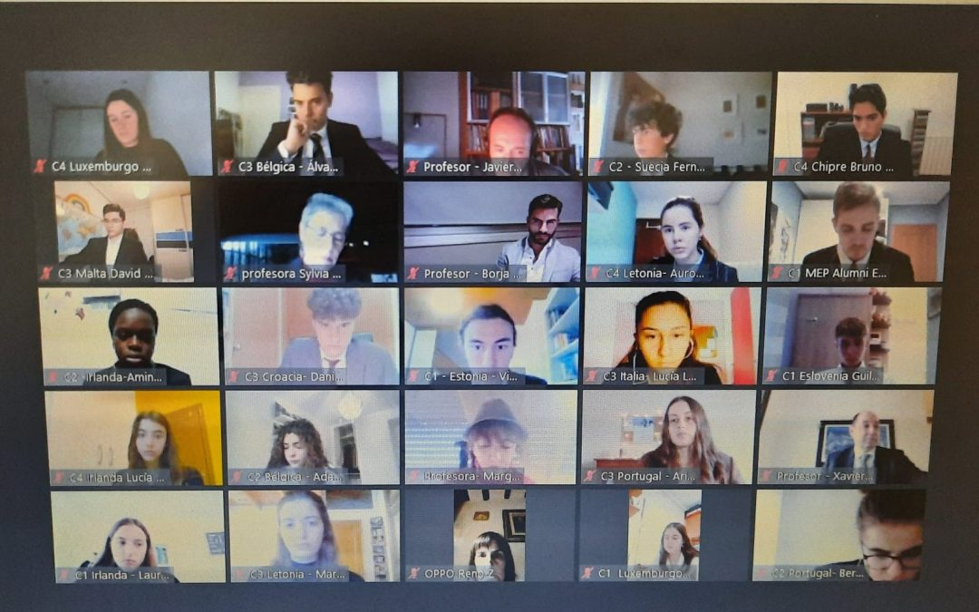 La Asamblea autonómica de Aragón del Modelo Parlamento Europeo congrega a 81 estudiantes de manera online