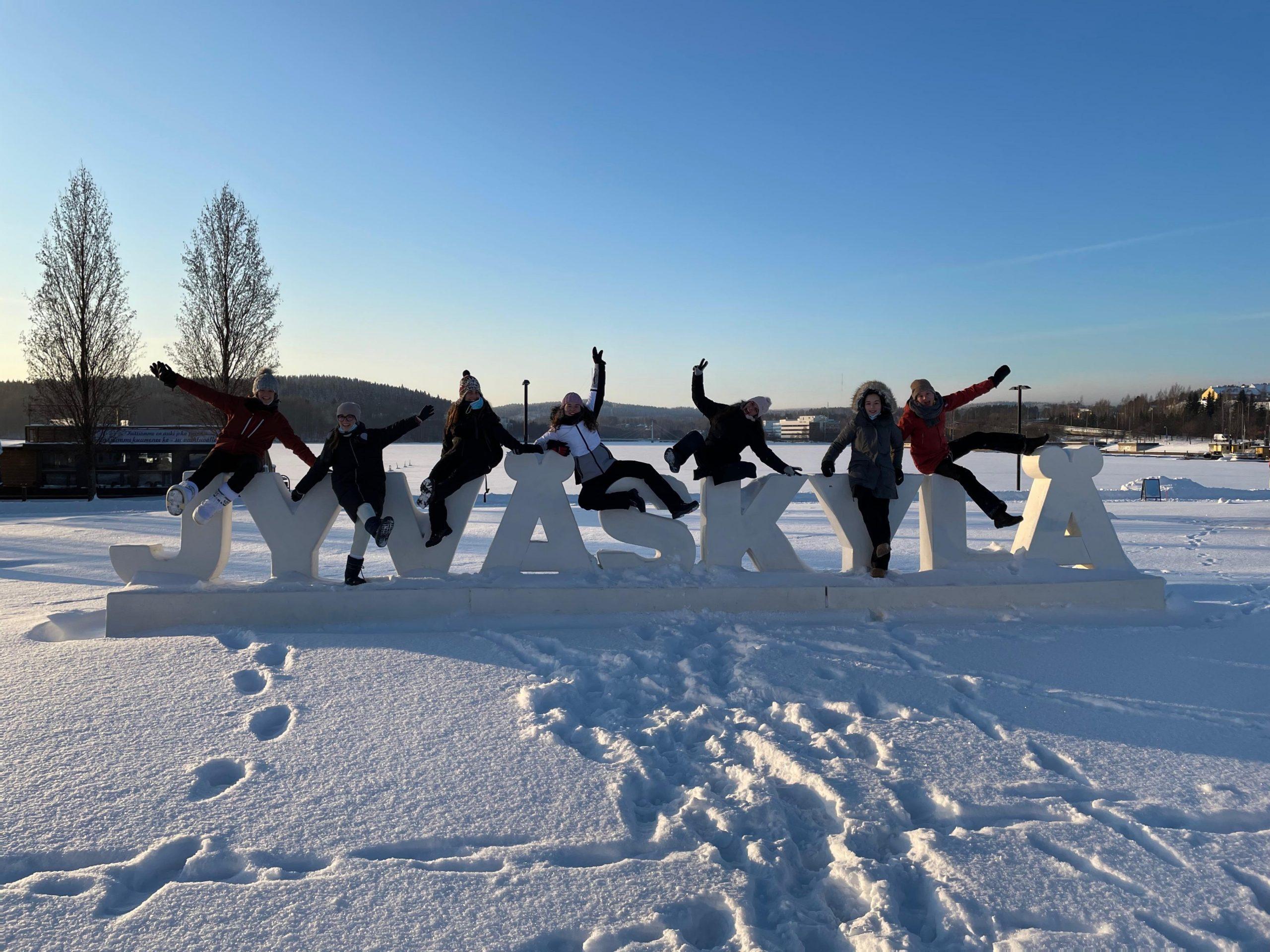Raquel Sánchez, realizando su estancia Erasmus en Finlandia