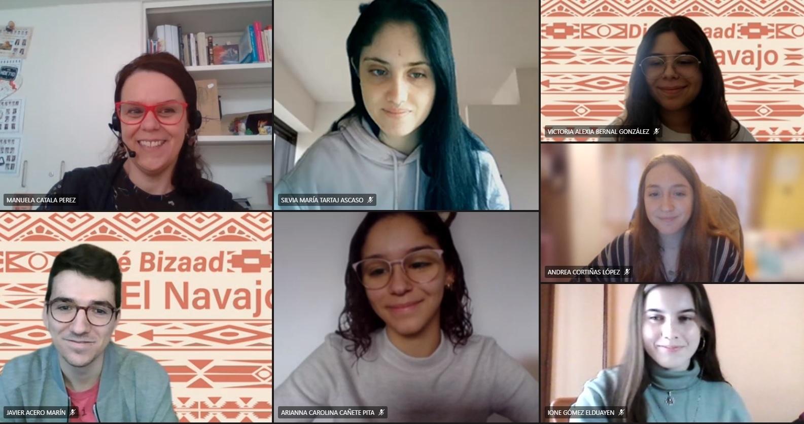 Alumnos que participaron en el seminario con motivo del Día Internacional de la Lengua Materna