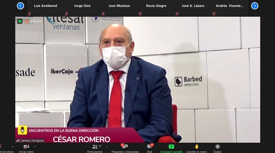 Cesar Romero en el encuentro sobre marketing de transformación social de la Cámara de Zaragoza