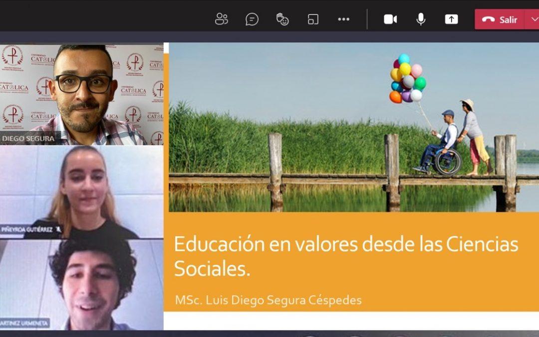 Los alumnos del grado en Educación Primaria asisten al taller virtual 'Educar en valores desde las Ciencias Sociales'