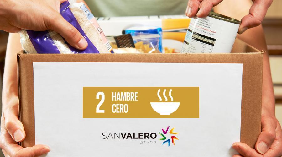 El Grupo San Valero ha donado más de 8.000 kg de alimentos en los últimos 5 años
