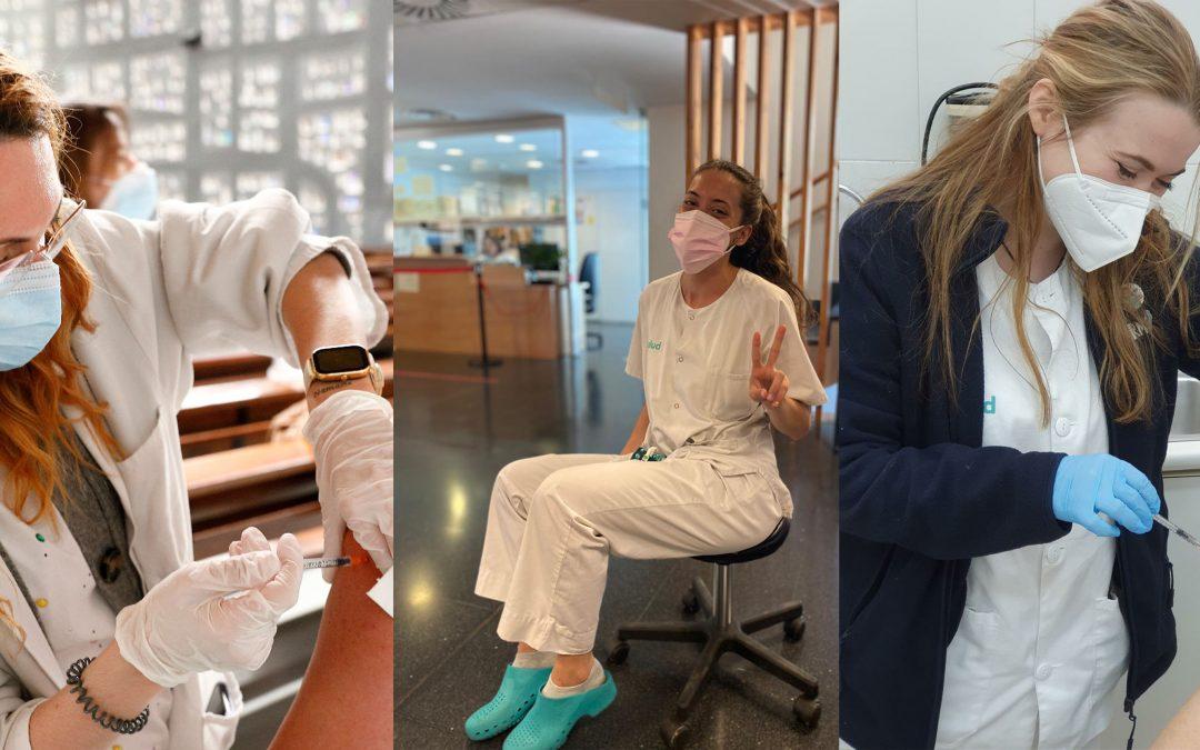 Vacunarse, la luz al final del túnel tras un año de esfuerzo cuidando a los demás durante la pandemia