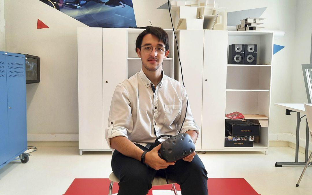 Fabio Ferrer, alumno de Arquitectura, recrea en Realidad Virtual el nuevo edificio del campus de la Universidad San Jorge