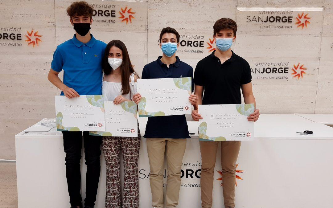 El equipo de colegio Romareda, ganador del concurso BioPro Challenge