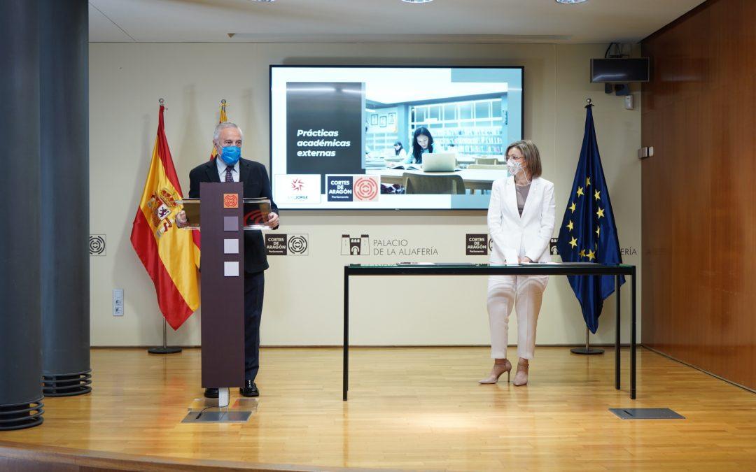 Convenio de prácticas Cortes de Aragón