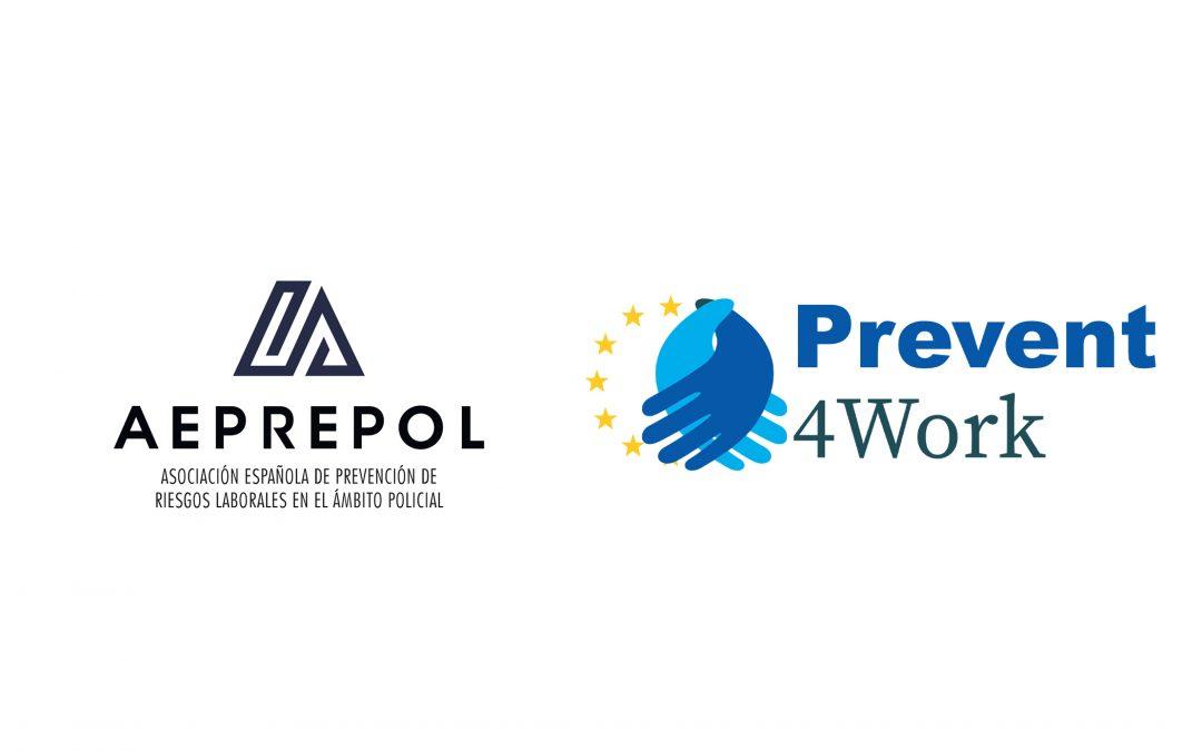 La Asociación Española de Prevención de Riesgos Laborales en el Ámbito Policial y Fuerzas Armadas Españolas se une al proyecto Prevent4Work