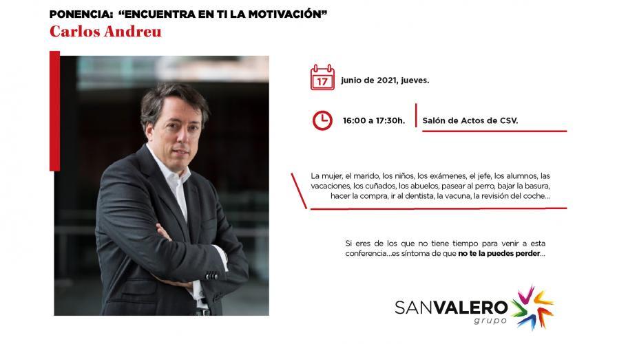"""Ponencia """"Encuentra en ti la motivación"""" impartida por Carlos Andreu"""