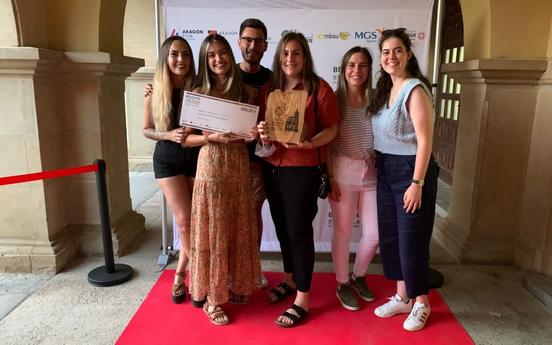 """Cuatro egresadas de la USJ ganan el accésit en el certamen de cortometrajes """"Belchite de película"""""""