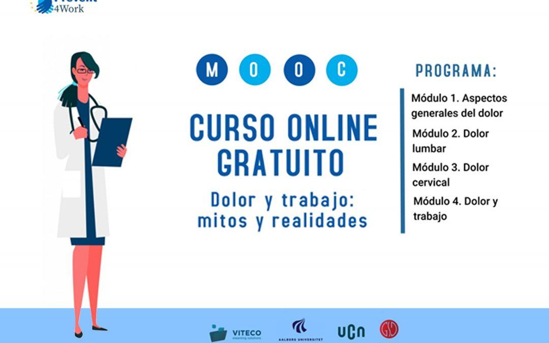 El proyecto europeo Prevent4Work, liderado por el egresado Pablo Bellosta-López, lanza su curso online y gratuito sobre mitos y realidades del dolor musculoesquelético