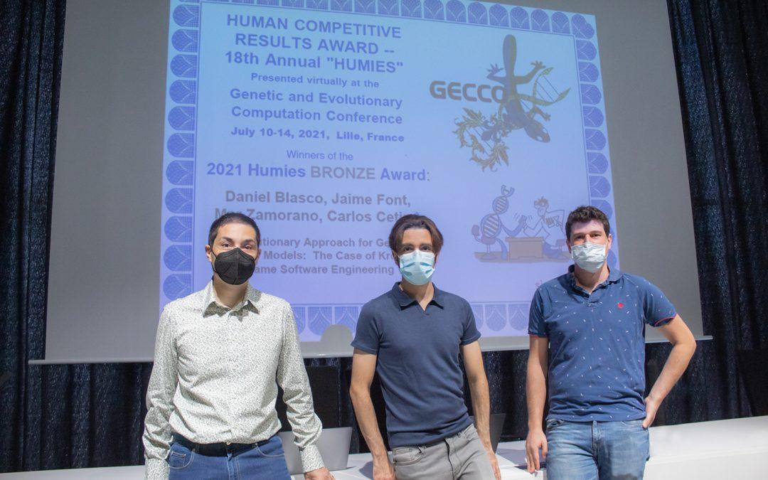 Investigadores de la Universidad San Jorge, premiados en los galardones de computación evolutiva más importantes del mundo
