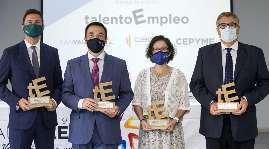 Cuatro entidades reciben los primeros premios 'Talento Empleo' de Aragón