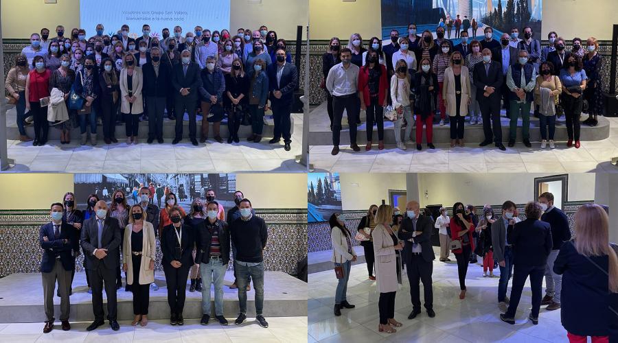 Los empleados del Grupo San Valero visitan la nueva sede institucional en la plaza Santa Cruz