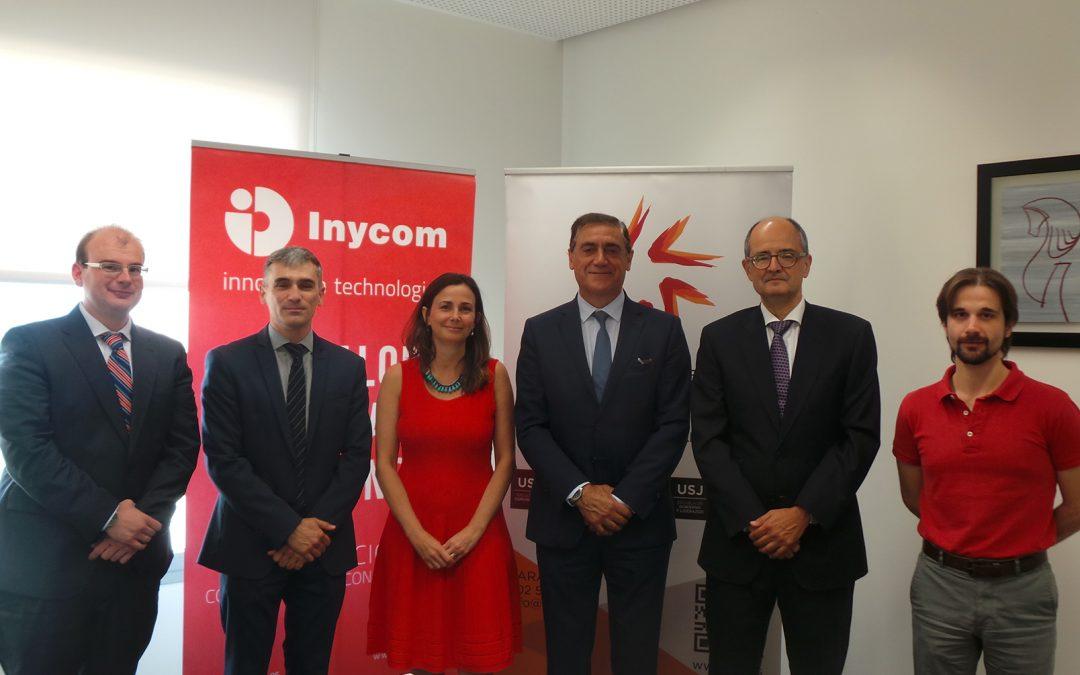 Universidad San Jorge e Inycom ponen en marcha una cátedra para actividades académicas y de orientación profesional