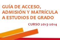 Guía de acceso, admisión y matrícula a estudios de Grado