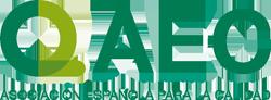 Logo de la Asociación Española para la Calidad. Colaborador de la Universidad San Jorge