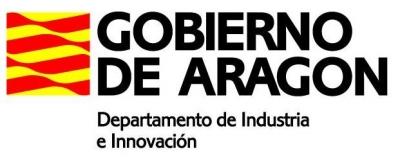 Logo Gobierno Aragón Dpto. Industri e Innovación