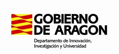 Logotipo Gobierno de Aragón. Investigación USJ, Innovación.