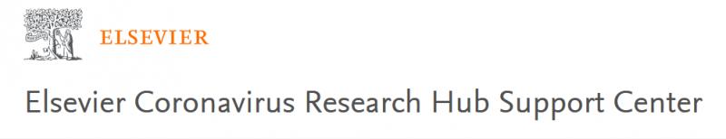 Elsevier Coronavirus Research Hub Support Center