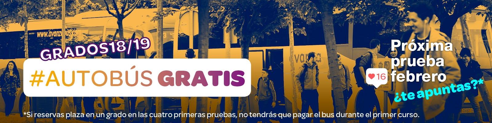 Autobús gratuito si reservas plaza en un grado de las Universidad San Jorge