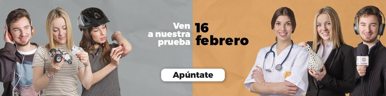 Pruebas de admisión del 16 de febrero de 2018 de la Universidad San Jorge