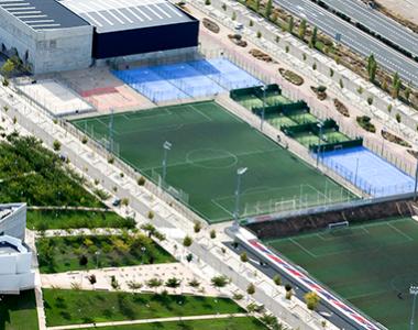 Campus deportivo de la Universidad San Jorge en Villanueva de Gállego