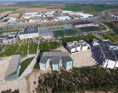 Vista aérea del Campus de la Universidad San Jorge