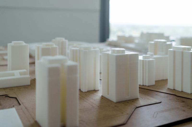 Maqueta realizada por alumnos del grado de arquitectura de la escuela de arquitectura y tecnología