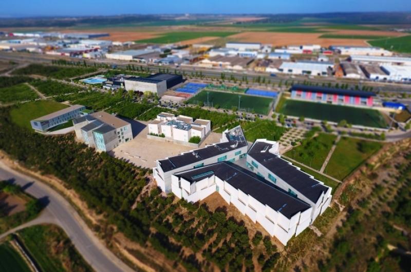 Foto aérea Universidad San Jorge campus Villanueva de Gállego