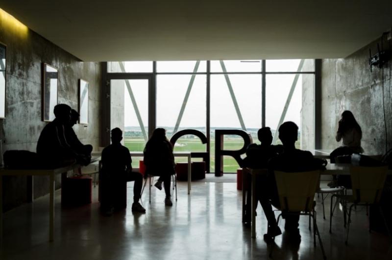 Zona de trabajo de la Facultad de Comunicación y Ciencias Sociales