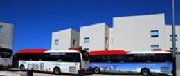 Paradas de la R2 del autobús de la Universidad San Jorge en Google View