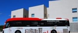 Paradas de la R3 del autobús de la Universidad San Jorge en Google View