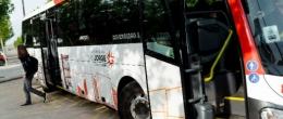 Paradas de la R4 del autobús de la Universidad San Jorge en Google View